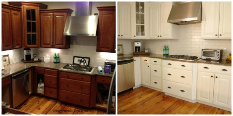 Painting-Oak-Cabinets-White-Before-And-After